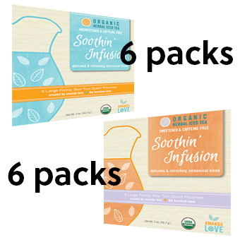 Soothin Infusion Organic Herbal Iced Tea - Combo Pack- 6 Sweet/6 Unsweetened