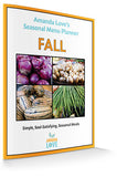 Fall Seasonal Menu Planner (Digital .PDF download)