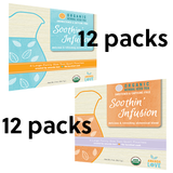Soothin' Infusion Organic Herbal Iced Tea- Combo Pack-12 Sweet/ 12 Unsweetened Tea (24 total)