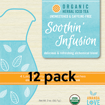 Unsweetened Soothin' Infusion Organic Herbal Iced Tea- Case of 12