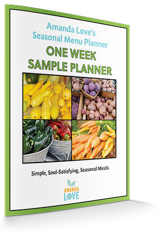 Sample One Week Seasonal Menu Planner (Digital .PDF download)