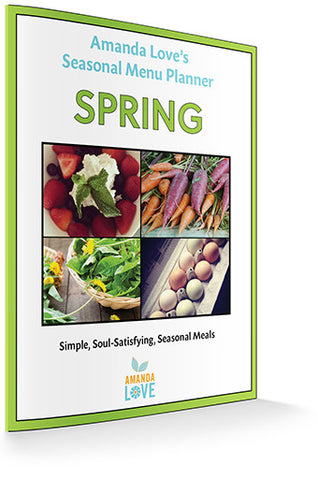 Spring Seasonal Menu Planner (Digital .PDF download)