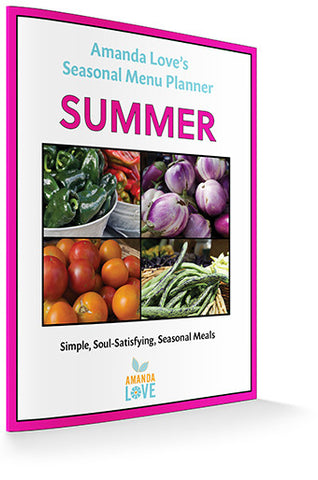 Summer Seasonal Menu Planner (Digital .PDF download)