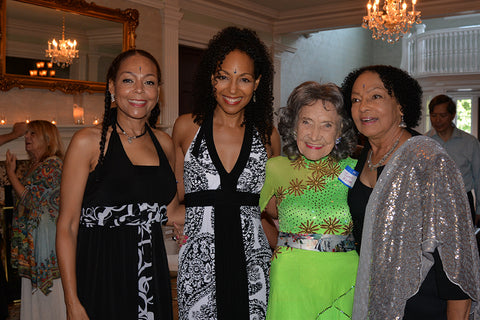 Sheila Kennedy Bryant, Teresa Kay-Aba Kennedy, Tao Porchon-Lynch and Janie Sykes-Kennedy at Tao's 99th birthday party - August 13, 2017