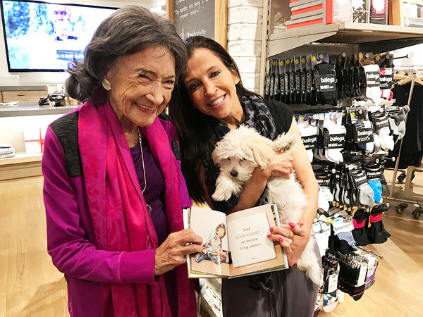 99-year-old Tao Porchon-Lynch with Wendy Diamond and Tao's new book, Shining Bright - November 18, 2017