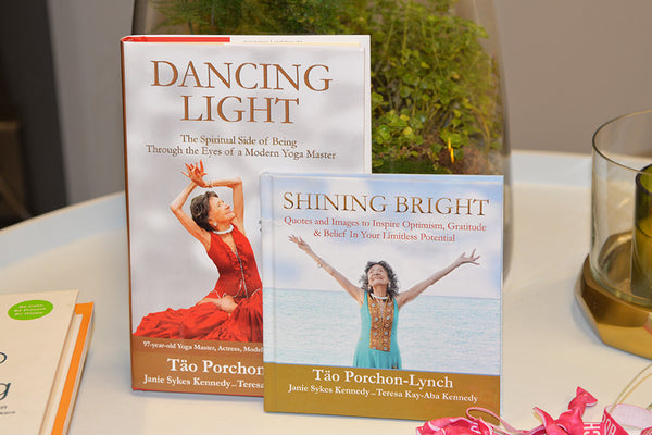 99-year-old yoga master Tao Porchon-Lynch's books, Dancing Light & Shining Bright -- November 18, 2017