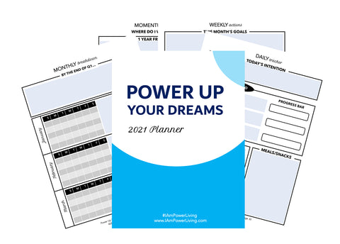 Power Up Your Dreams 2021 Digital Planner