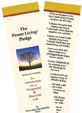 The Power Living Pledge Bookmarks