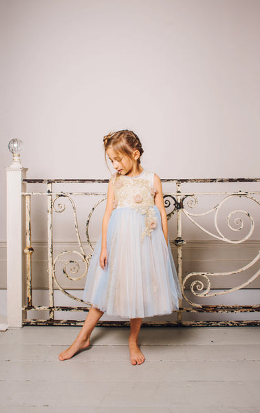 Crystal Blue Tuelle Dress