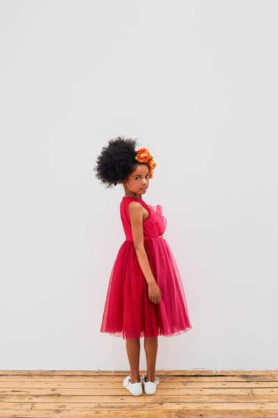 Dark Pink Tuelle Dress