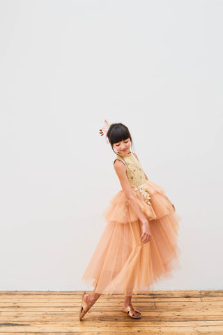 Golden Tuelle Queen Bee Dress