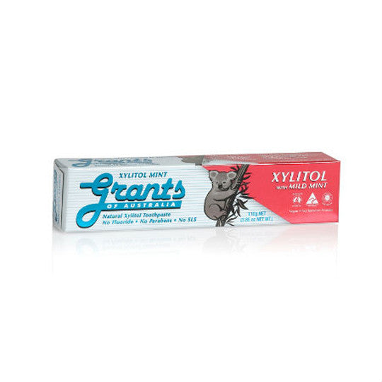 Grants Natural Xylitol Toothpaste with Mild Mint 110g