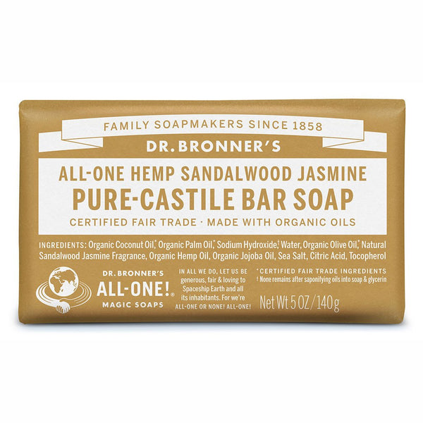Dr Bronner - Soap bar sandalwood jasmine