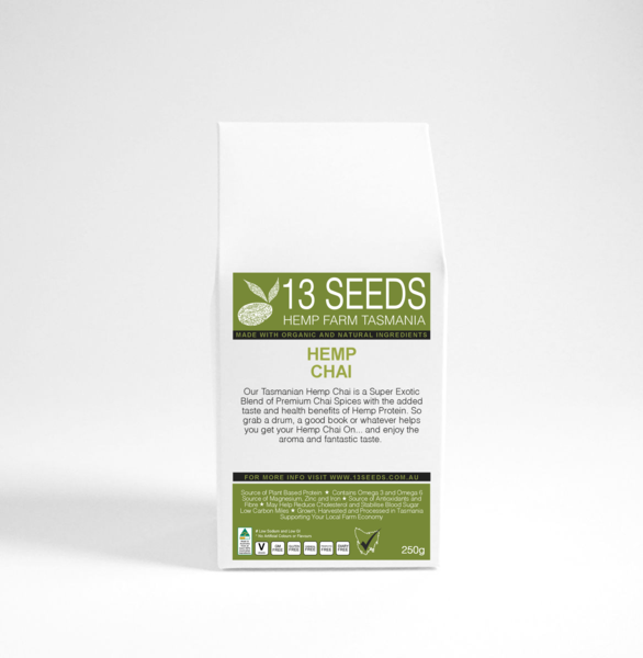 13 SEEDS HEMP CHAI POWDER 250GRAMS