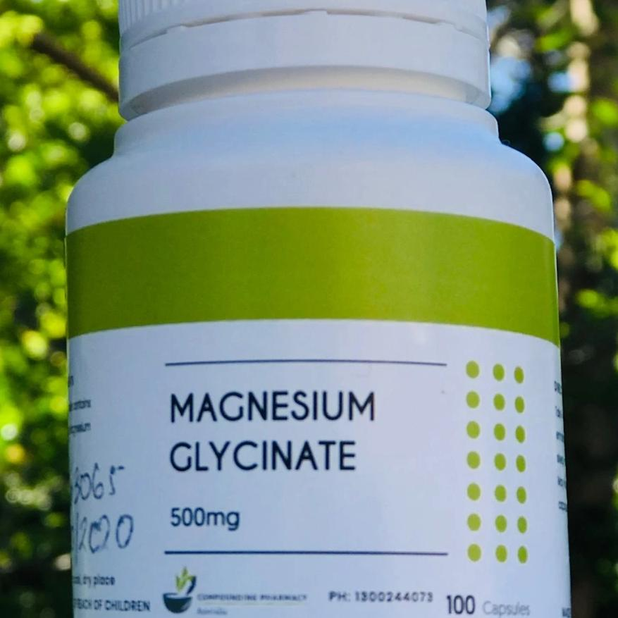 TCPA Magnesium Glycinate 500mg (100) capsules