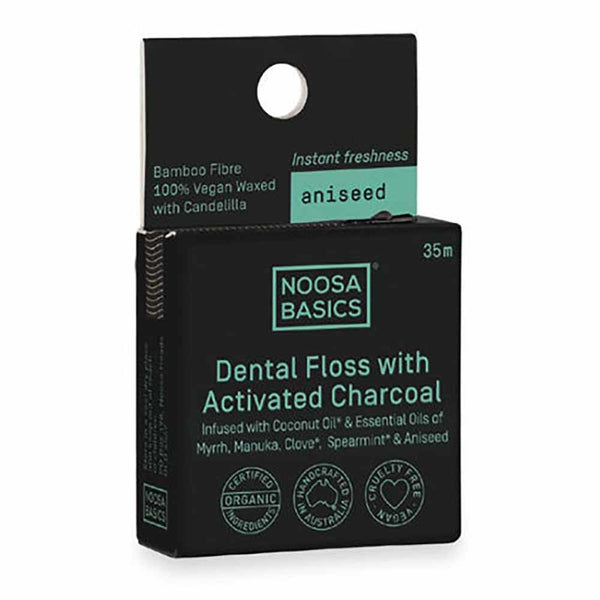 NOOSA BASICS Activated Dental Floss with coconut & oils