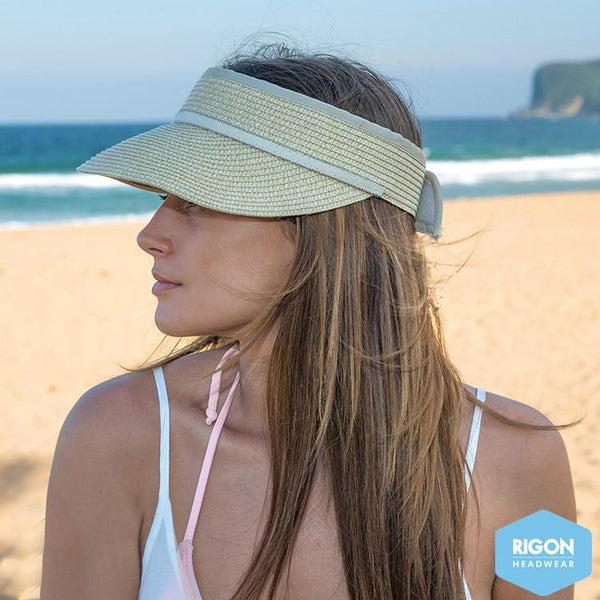 Rigon Headwear - HAT Melody Braided Visor - natural