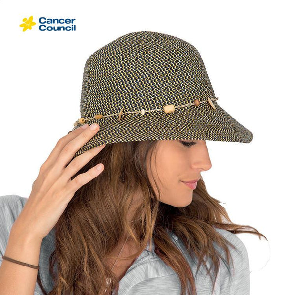 HAT Bohemian Bucket Style Hat Navy  M/L