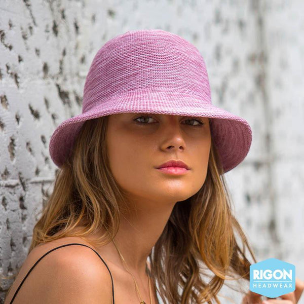 Rigon Headwear - HAT Summer Cloche old rose pink