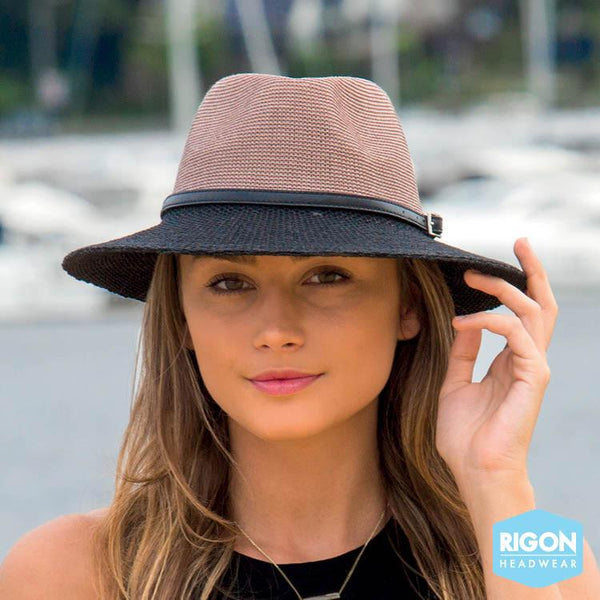 Rigon Headwear - HAT Paris Mannish Style Mocha Black