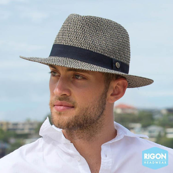 Rigon Headwear - HAT The Franky' Braid Fedora Black M/L
