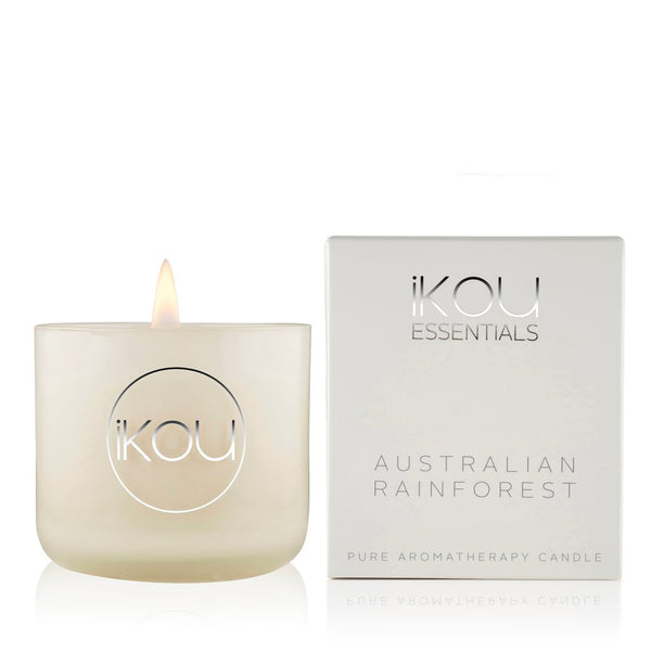 IKOU ESSENTIALS SMALL CANDLE GLASS AUSTRALIAN RAINFOREST