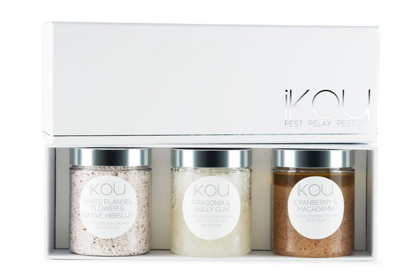 IKOU LIMITED EDITION AUSTRALIAN BODY SCRUB TRIO