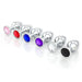 Jeweled Chrome Metal Butt Plug - Temperature Play Anal Toys