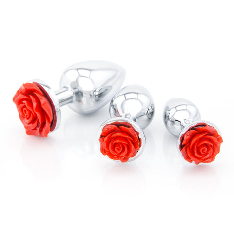 Rose Metal Butt Plugs