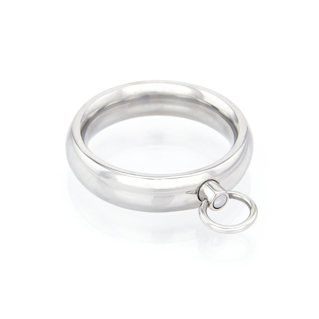 Stainless Steel Donut Cock Ring with O-Ring