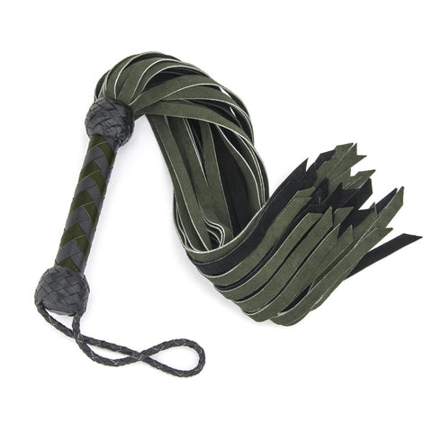 Suede Flogger – Green and Black