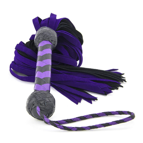 Suede Flogger – Purple and Black