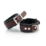 Leather Mini Cuffs, Faux Fur Lining