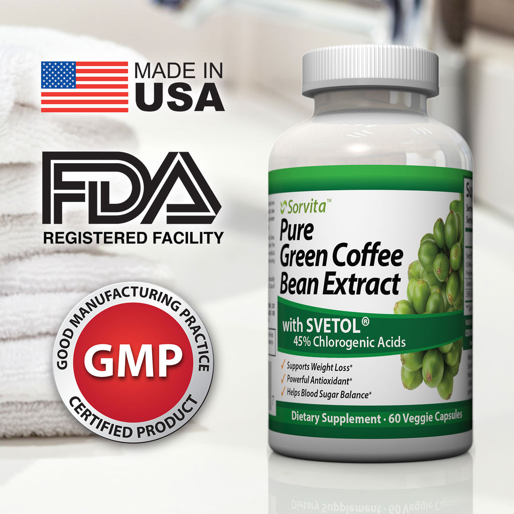 Pure Green Coffee Bean Extract with Svetol®