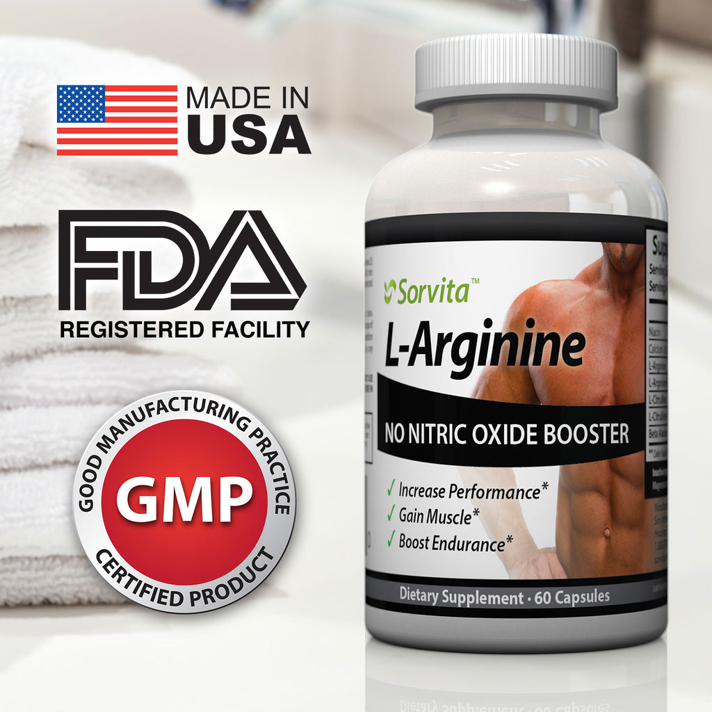 L-Arginine NO Nitric Oxide Supplement