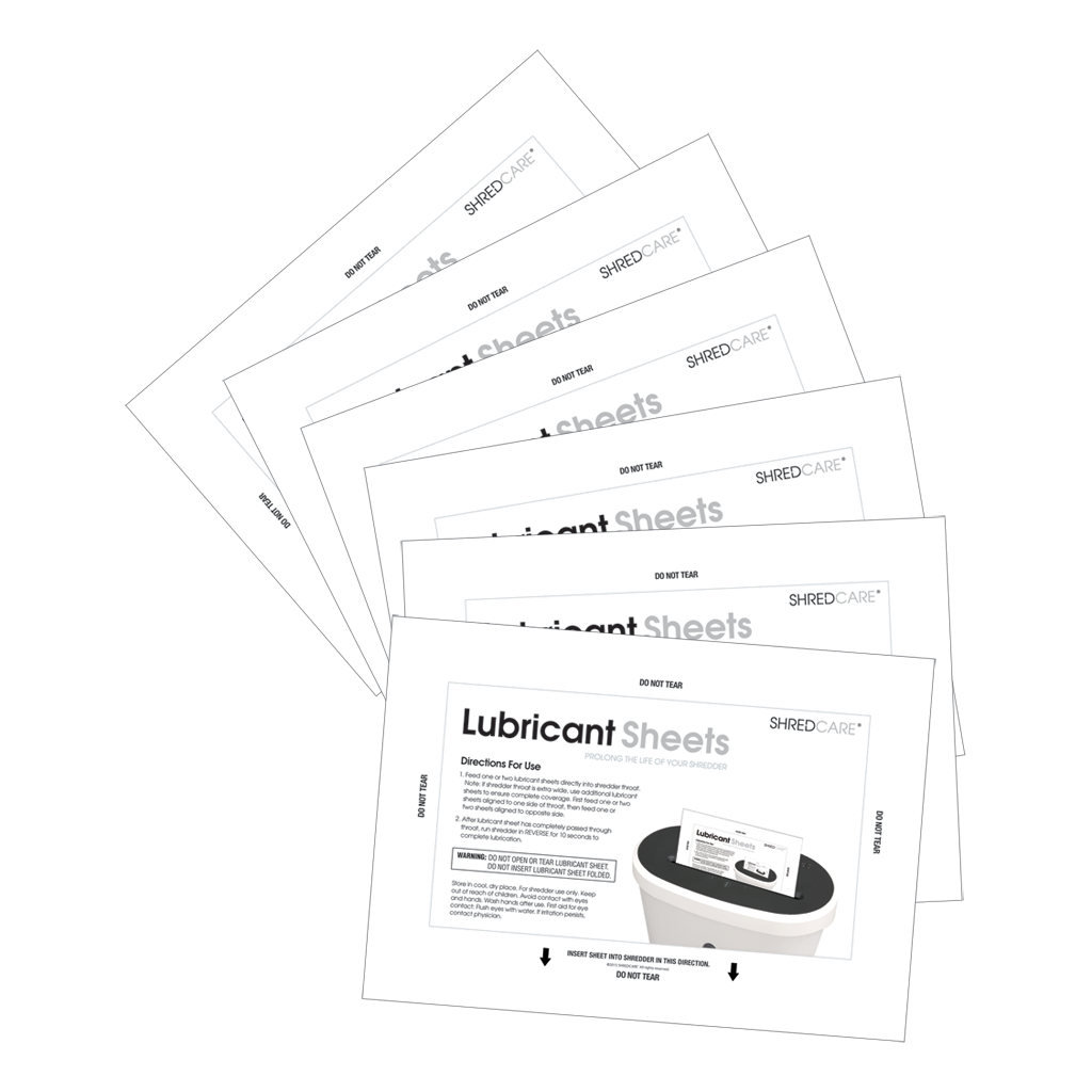 Shredcare® Shredder Lubricant Sheets, 6-pack SCLS6