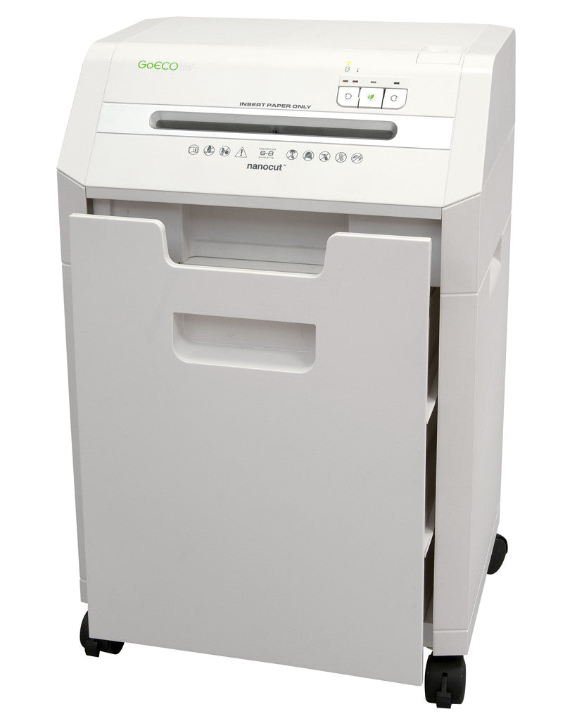 Optimus Edition 8-Sheet Nanocut Commercial Under Desk Paper Shredder - White GHC85P