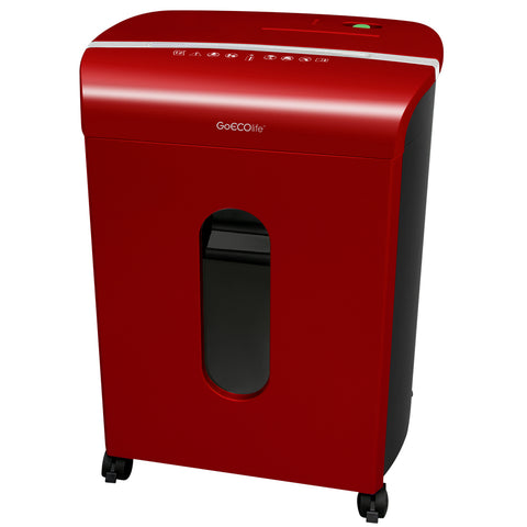 Limited Edition 12-Sheet Microcut Paper Shredder - GMW120P-RED
