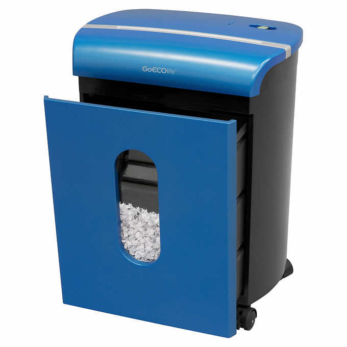 GoECOlife™ 10 Sheet Microcut Paper Shredder - Blue GMW104P-BLE