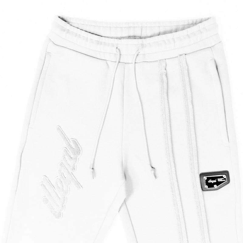 Seamed Cotton Sweatpants in White