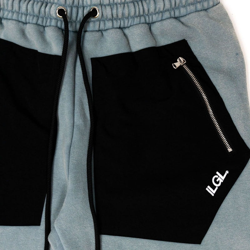 Tactical Cotton Cargo Sweatpants in Steel Blue