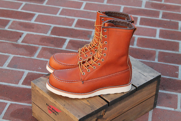 Red Wing 877 8 Inch Moc Toe Oro Legacy