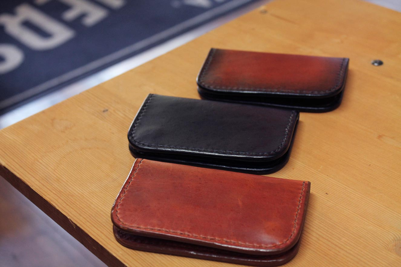 Brown, Black, and Mixed Color Leather Snap Wallets