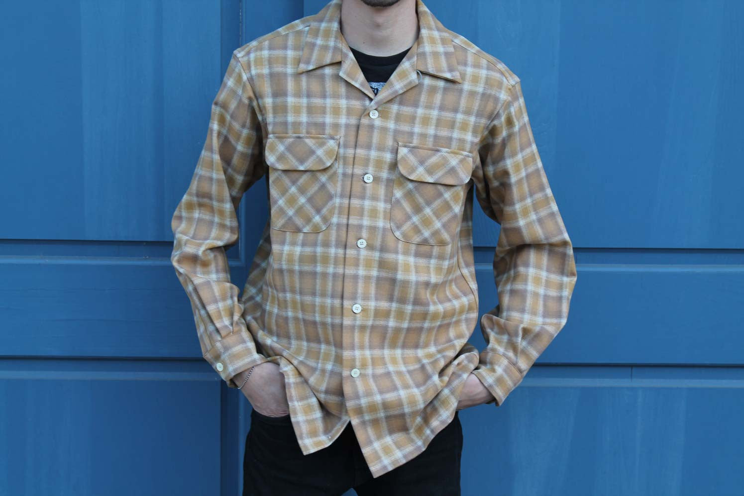 beige orange checkered Pendleton shirt new Fall 2017 collection