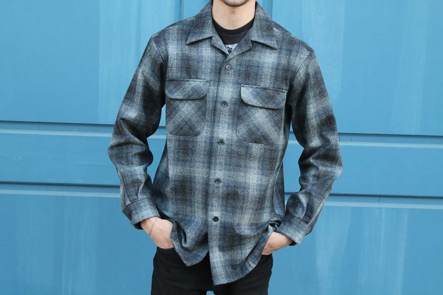 blue checkered Pendleton shirt new Fall 2017 collection