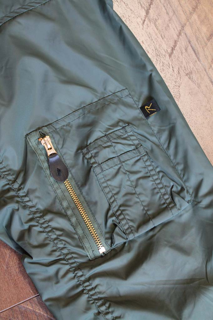 close up of rothco jacket sleeve
