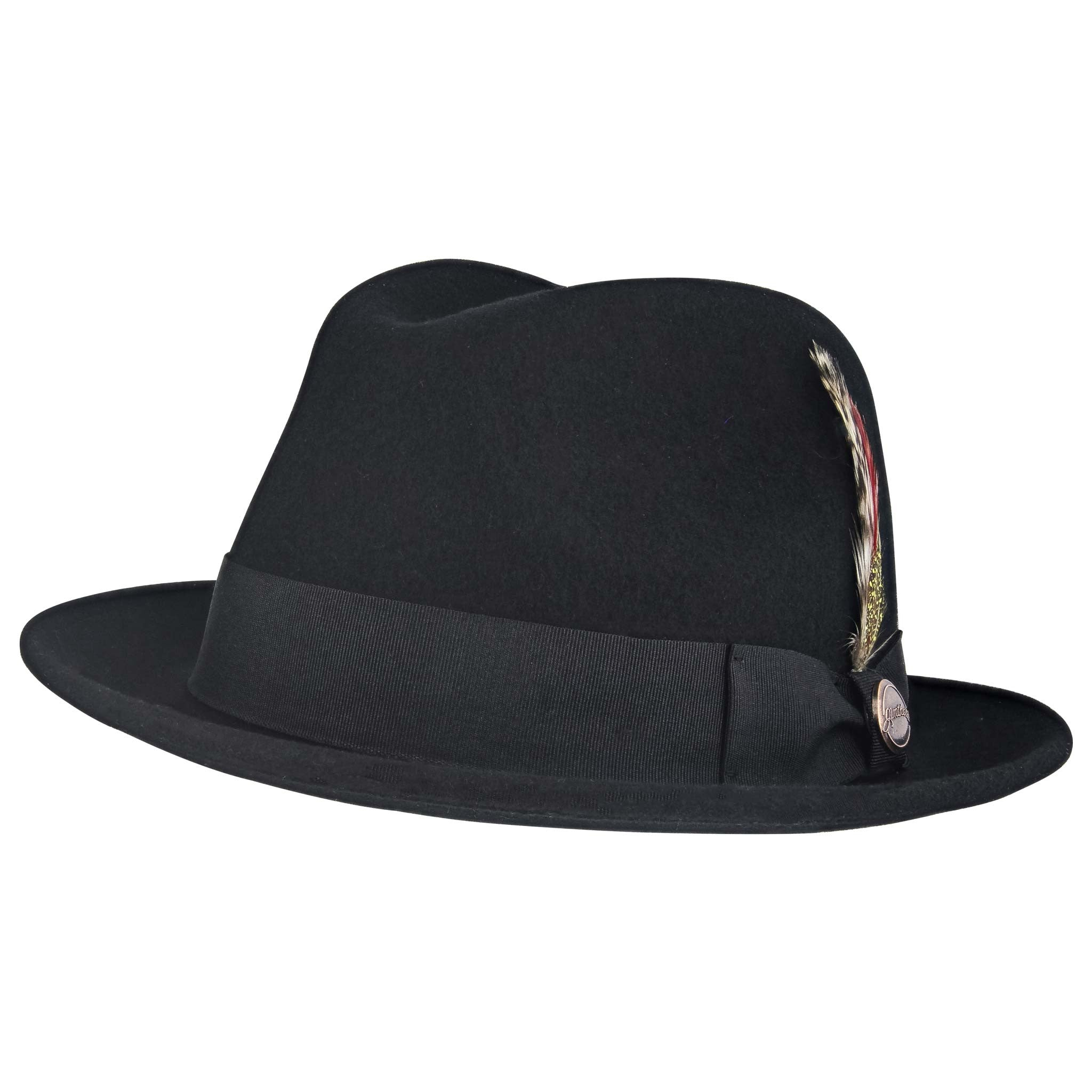 b9affe6b4e9 La Cuatro Fedora Black Front View of the Hat ...