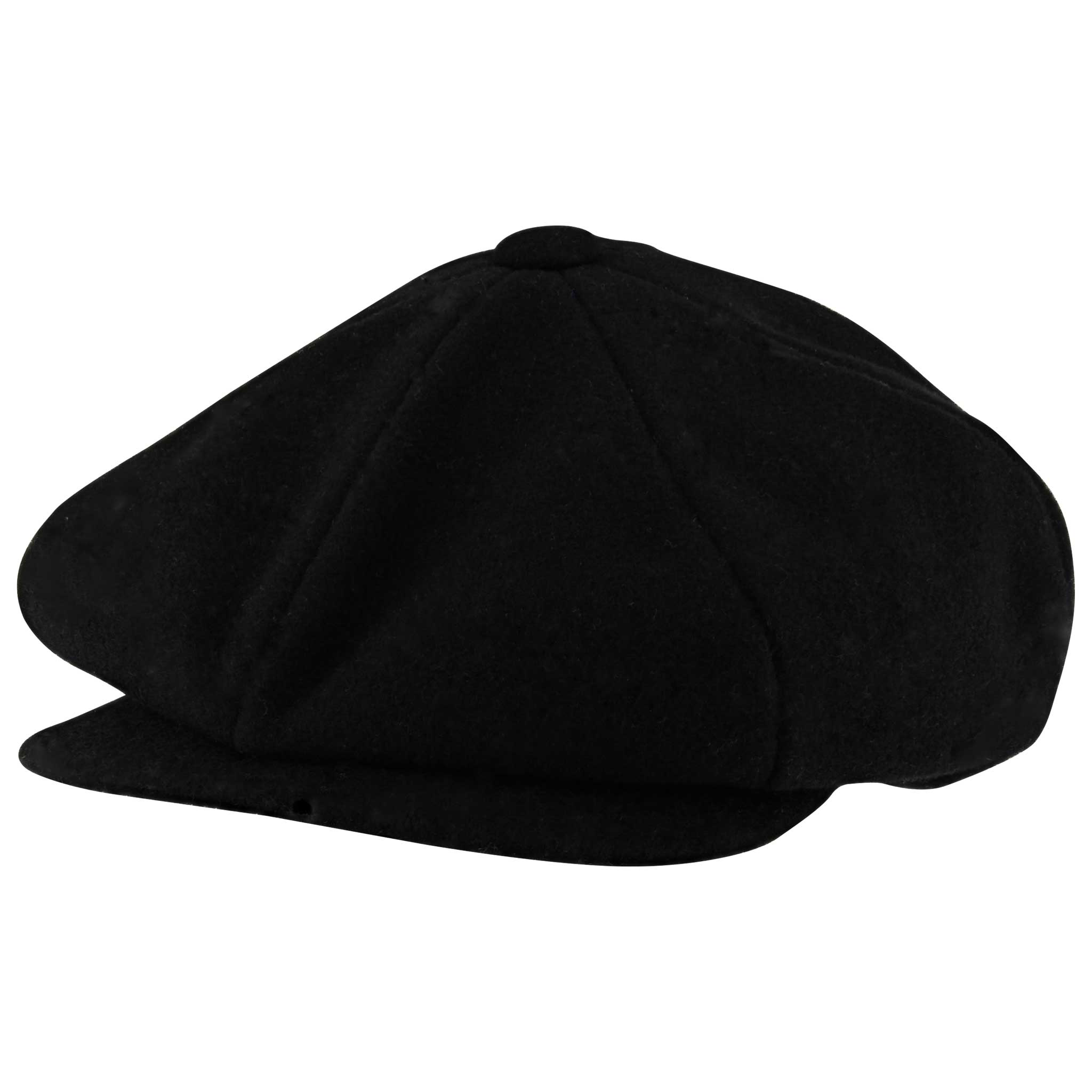 New York Hat Company Wool Newsboy Black Front View ... bae0a989b6f3