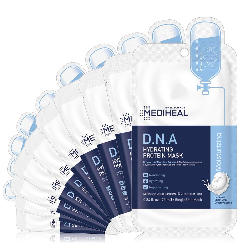 [ MEDIHEAL ] D.N.A. Hydrating Protein Mask 10-PACK