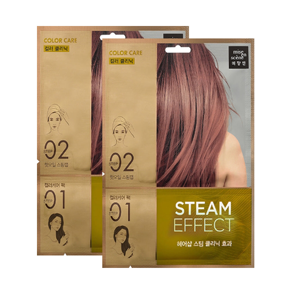 [ Mise En Scene ] Color Care Steam Hair Mask Pack 2 PCS